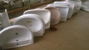 lavabo in ceramica x bagno bianco e colorato