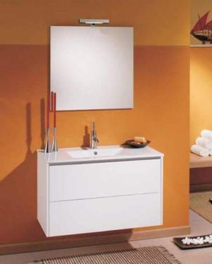 Arredo bagno mobile vanity stock cm.91 bianco lucido