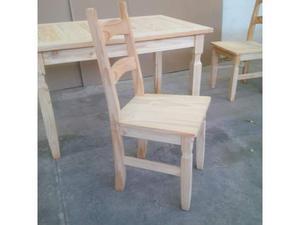 Set 4 sedie tutte in legno massello