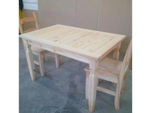 Tav olo con 4 sedie legno massello verniciatura fai da te