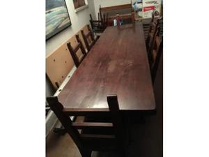 Credenza Per Taverna Usata : Tavolo in legno con sedie da taverna posot class