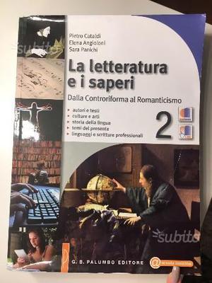 """Libri """"la letteratura e i saperi"""""""