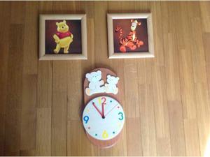 Set orologio e quadretti Walt Disney