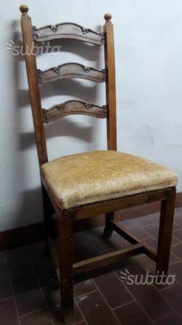 Bellissime quattro sedie in noce nazionale