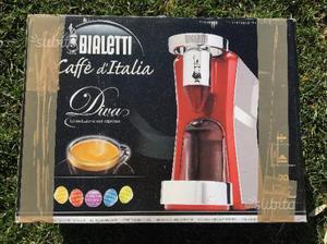 Bialetti diva caffe' espresso rossa con scatola