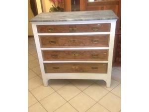 Cassettera como' in legno con marmo