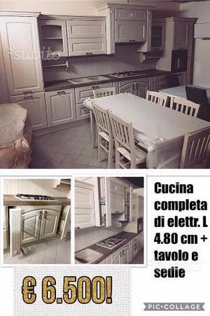 Cucina Completa Tavolo E Sedie.Cucina In Legno Con Tavolo E Sedie Forno E Stufa Posot Class