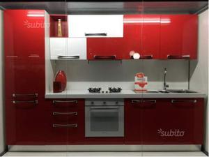 Cucina lineare moderna metri 3 con colonna forno posot class for Cucina lineare moderna