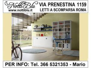 Letti a Scomparsa Roma _ Letto VE431 Notti Blu 1 piazza