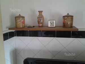 Mensola da cucina in legno colore noce scuro