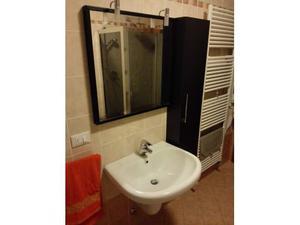 Mobile bagno in legno lavandino specchio colonna posot class - Lavabo sospeso con mobile ...