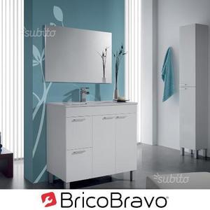 Mobile bagno set con specchio bianco