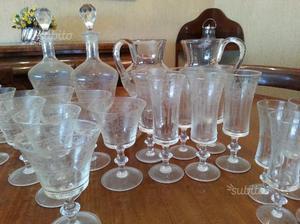 Servizio bicchieri da 6 vintage,anni 60