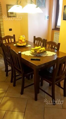 Tavolo allungabile 6 sedie in legno
