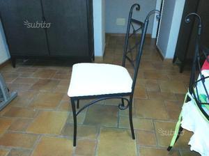 Tavolo e sedie in ferro battuto