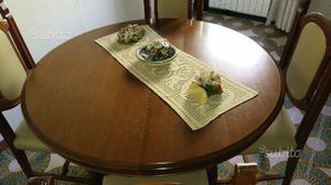 Tavolo tondo allungabile in noce