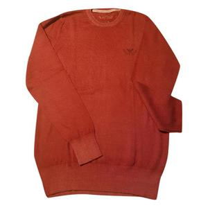 maglione in lana rosso armani jeans