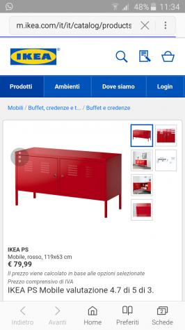 Mobile ikea ps rosso posot class - Ikea mobile metallo ...