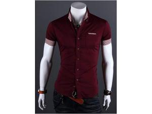 Camicia uomo maniche corte taglia M 48 slim fit * NUOVA