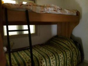 Letto a castello in legno con cassettone 3° letto