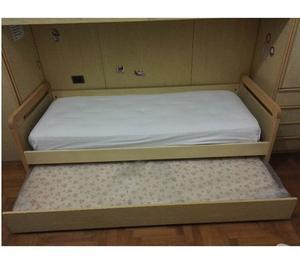 Letto singolo con secondo letto estraibile posot class - Letto estraibile usato ...