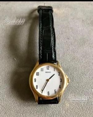 Orologio Seiko donna oro cassa quadrante oro 750