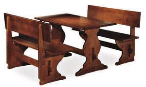 Tavolo + panca in legno massello