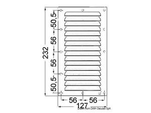 Griglia areazione inox 232 x 127 mm