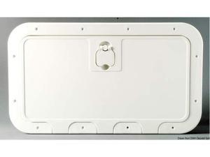 Portello estraibile bianco 350 x 600 mm