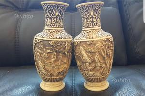 Antica coppia di vasi giapponesi in posot class for Vasi marmo