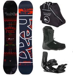 Snowboard attacchi scarponi e sacca per posot class - Sacca per tavola sup ...