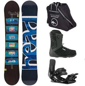 Snowboard attacchi scarponi e sacca per posot class - Tavola snowboard attacchi offerta ...
