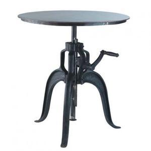 Tavolo in metallo nero, altezza regolabile