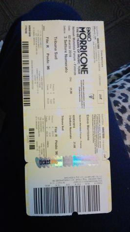 Vendo 1 biglietto per il concerto di Ennio Morricone del 2