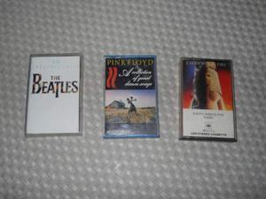 Musicassette Vintage Beatles, Pink Floyd e Earth Wind&fire