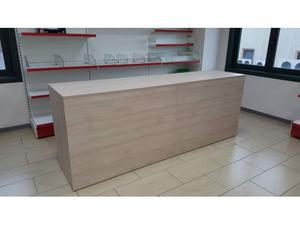 Banco vendita a giorno lineare col. rovere crema da mt. 2,40