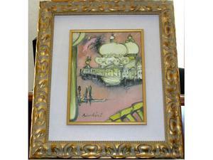 Remo Brindisi tela 30 x 40 cm. con cornice