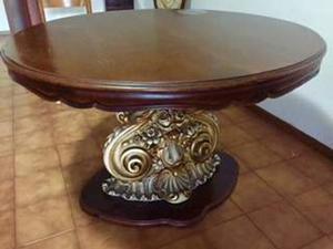 Tavolo rotondo in legno marrone scuro come posot class - Tavolo rotondo in legno ...