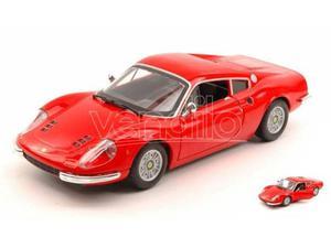 Bburago BUR FERRARI DINO 246 GT  RED 1:24 Modellino