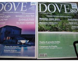 """Dove"""" lotto n.4 riviste viaggi condizioni da edicola"""