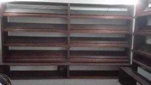 Libreria o mobili da esposizione in legno massello color