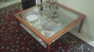 Tavolino calligaris in vetro e ciliegio | Posot Class