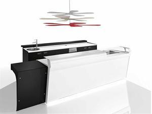 Banco e retrobanco videoteca posot class for Arredamento pizzeria al taglio usato