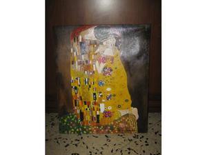 """Dipinto ad olio su tela """" Il bacio """" copia di """" Klimt"""""""