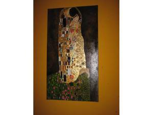 Il bacio,copia di Klimt su base foglia oro.