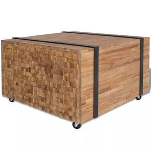 vidaXL Tavolino Laterale in Legno di Teak 60x60x38 cm