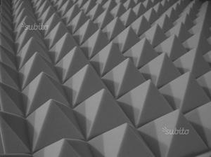 20mqPannelli fonoassorbenti Piramidali 100x100x5