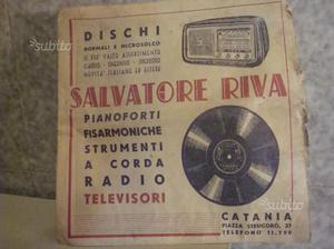 Pubblicità Salvatore Riva Dischi Catania 45 Giri