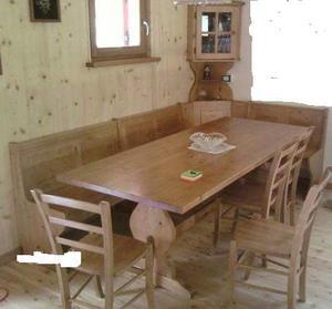 mobili in legno massello Set completo color noce