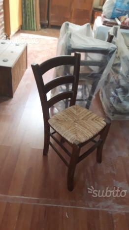 Sei sedie legno